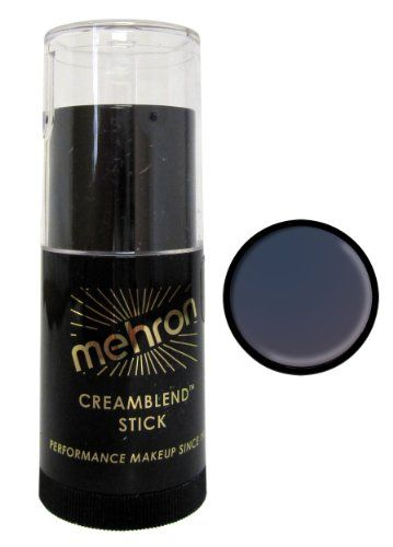 Mehron CreamBlend Stick Makeup  Monster Grey 075 oz * Read more reviews of the product by visiting the link on the image. Note: It's an affiliate link to Amazon