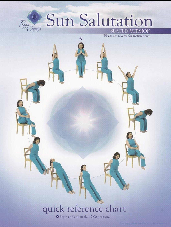 Pin By Ani On Yoga Chair Yoga Yoga For Seniors Sun Salutation
