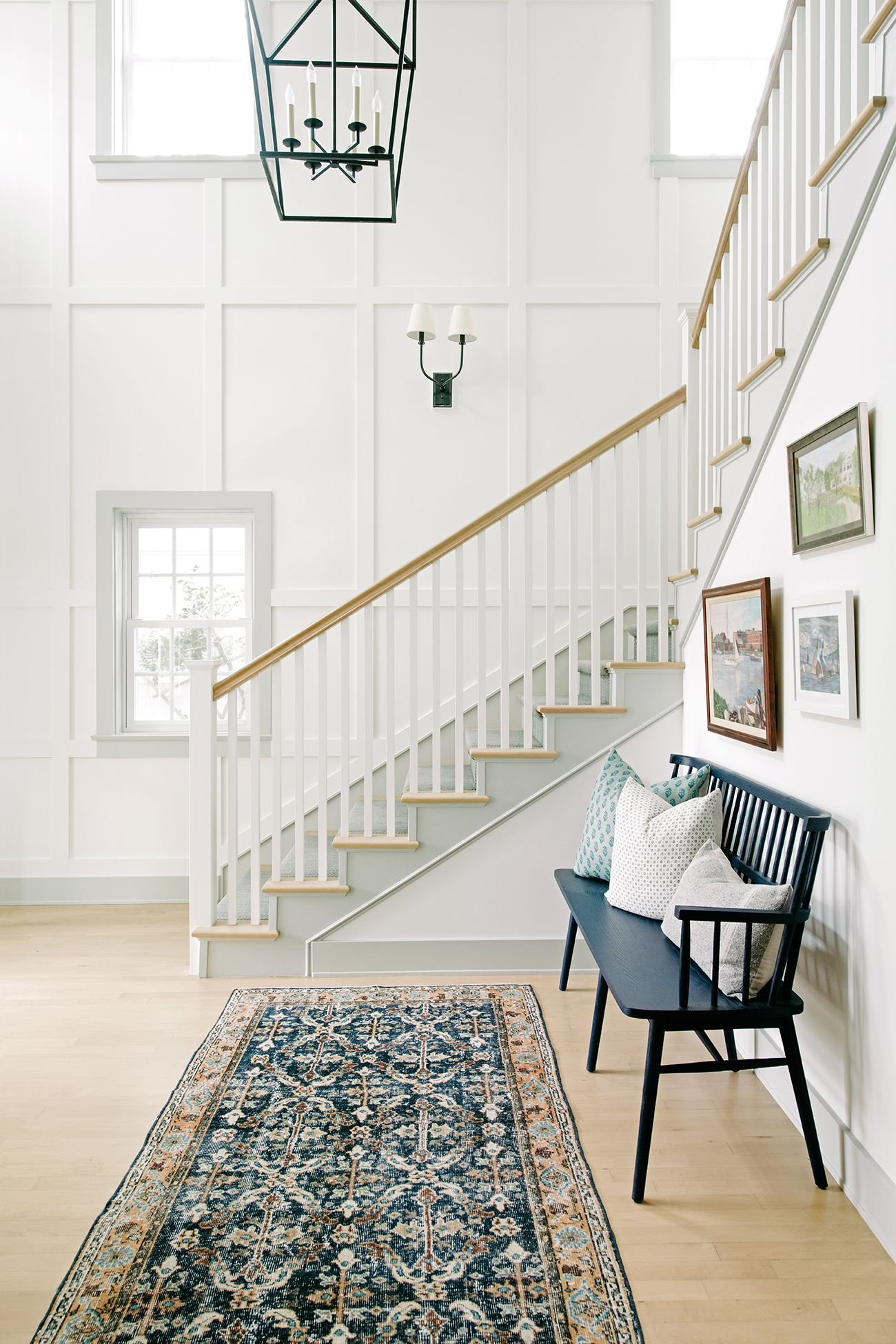 A Dark And Dated Home In California Got A Breezy Coastal Makeover Foyer Design Home Foyer Ideas Entryway