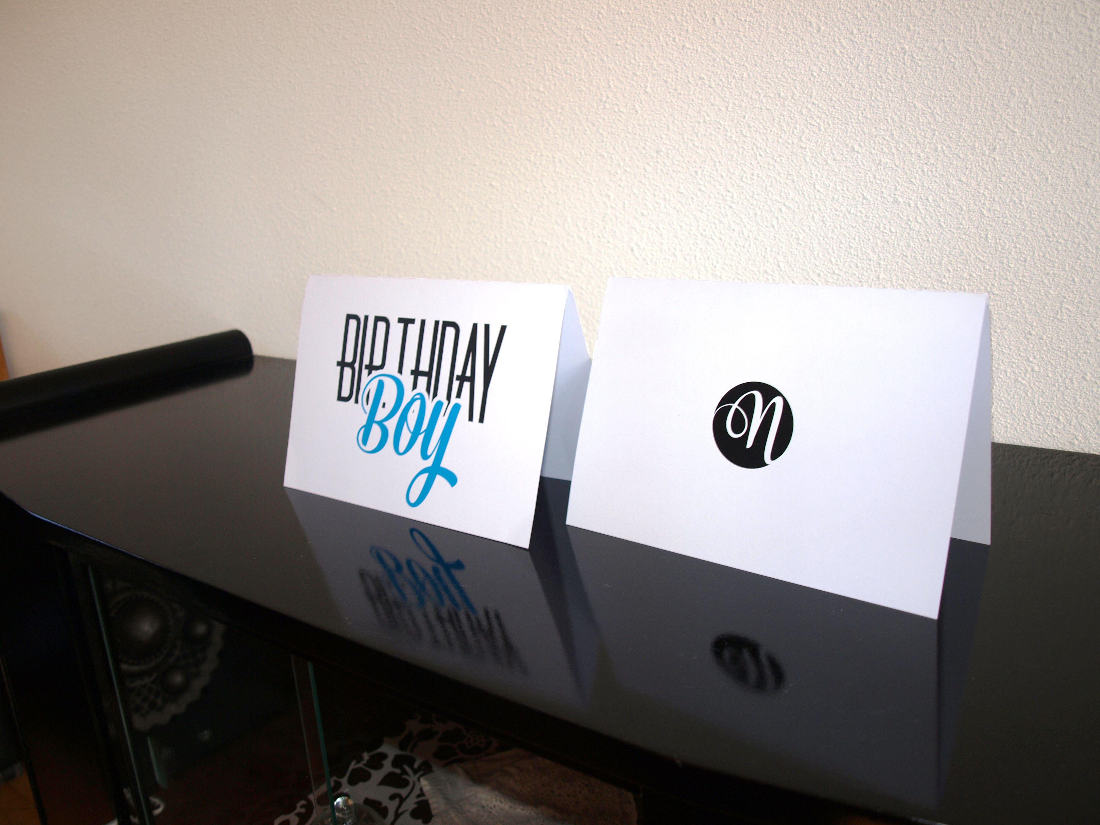 Birthday Boy - Typografie Kaarten - Naomi Typografie - www.naomitypografie.nl