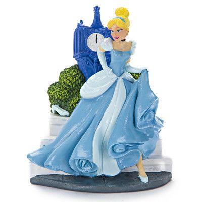 Disney Princess Cinderella with Clock Tower Aquarium Ornament - halloween fish tank decorations