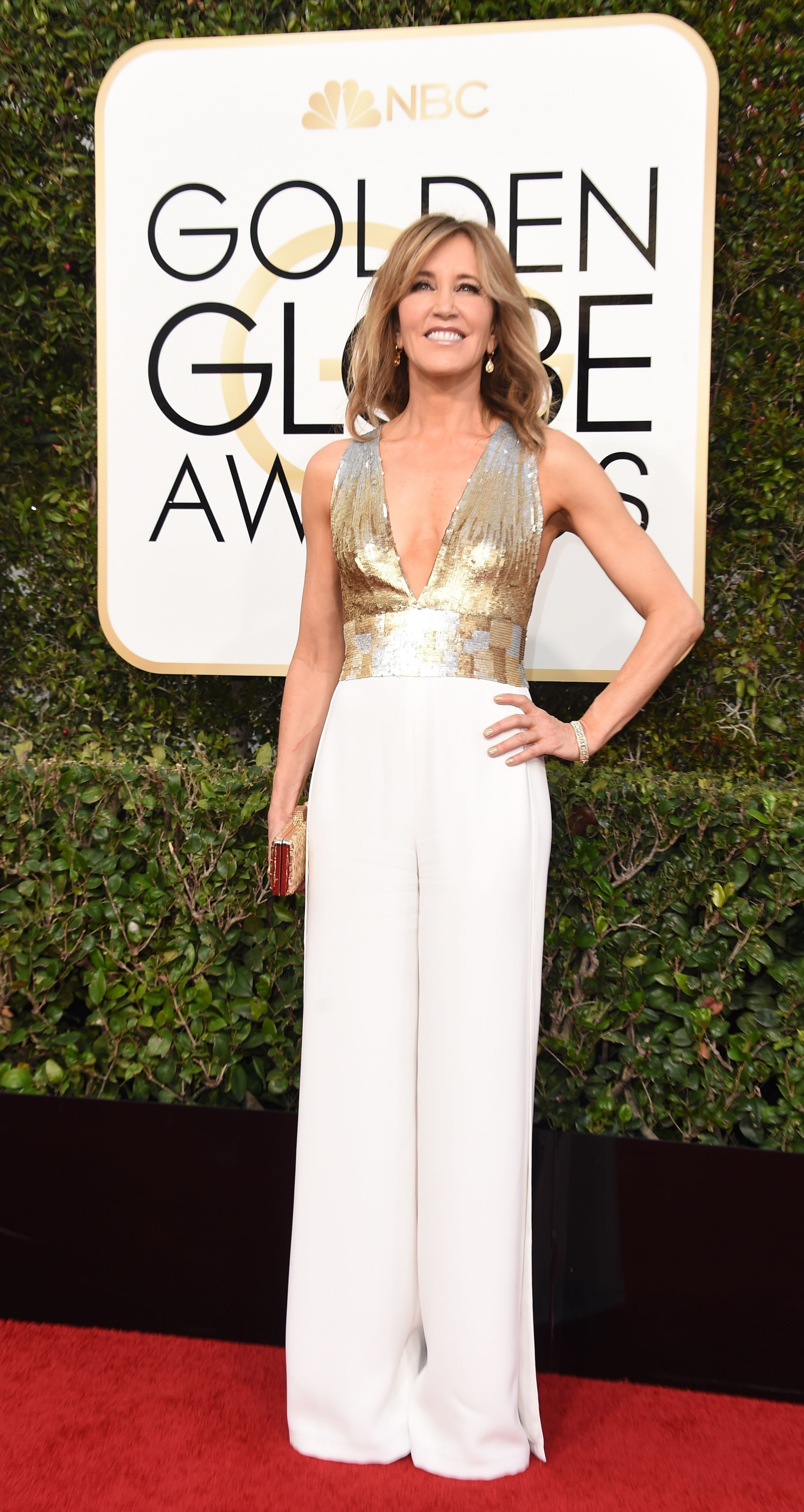 41723dbd5a Felicity Huffman in Edition by Georges Chakra   the 2017 Golden Globe Awards