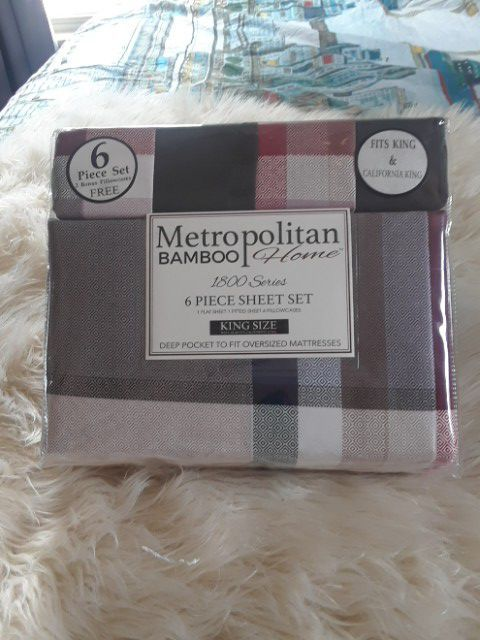 Metropolitan Bamboo Sheet Sets 1800 Thread Count For Sale In