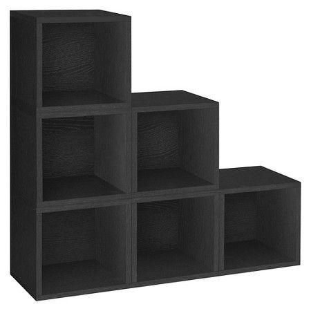 Way Basics 6 Stackable Eco Cubes Storage Black Cube Storage Stackable Storage Way Basics