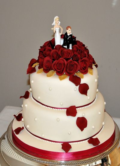 Red Wedding Cake Designs And Images Gallery Related To Velvet Rose