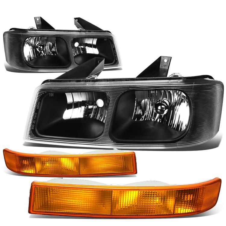 03 17 Chevy Express Gmc Savana 1500 2500 3500 Headlights Amber