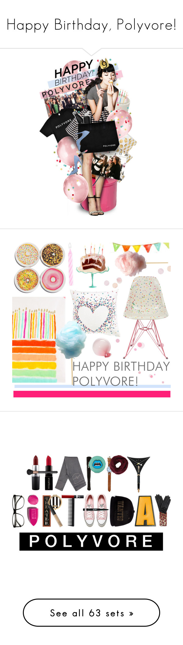 """""""Happy Birthday, Polyvore!"""" by polyvore-editorial ❤ liked on Polyvore featuring happybirthdaypolyvore, art, contestentry, RED Valentino, Christian Louboutin, Moschino, Dolce&Gabbana, women's clothing, women and female"""
