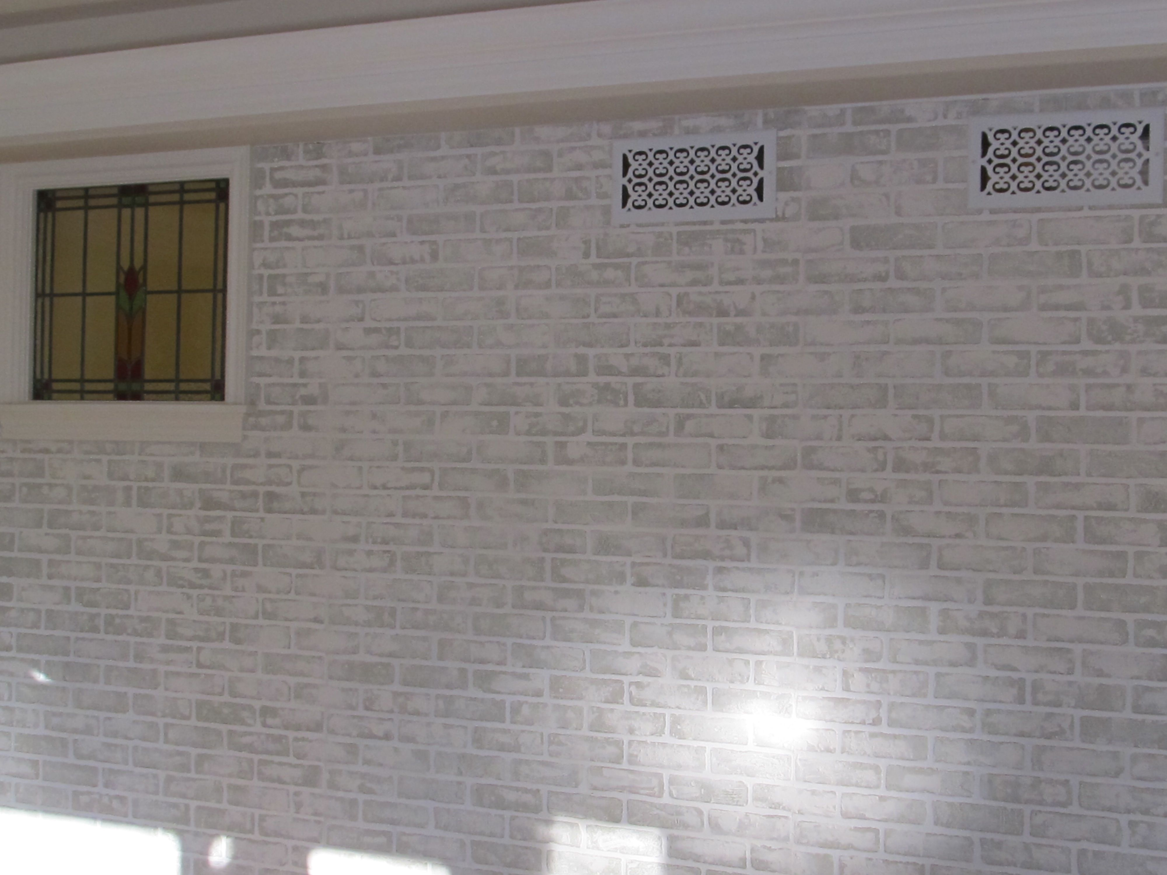 My Faux Brick After Wall Started With 4x8 Panels From Lowes Then