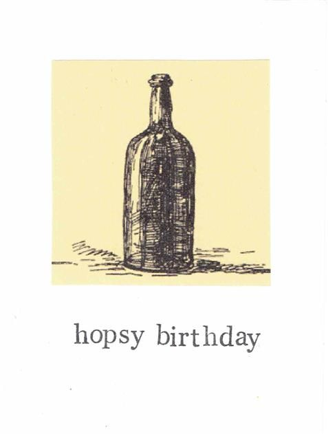 Wish a happy birthday with cheers for beers! Hopsy Birthday Card, $4.00