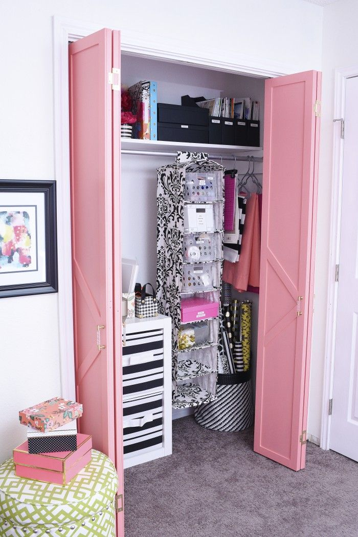 This Diy Bifold Closet Door Makeover Looks Like A Million Bucks But Cost Under 50 The Paint Used In Tutorial Is Sherwin Williams Dishy C