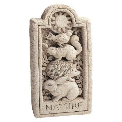Nature Stone Wall Plaque/Garden Statue   576