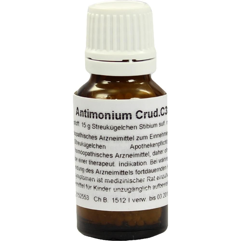 ANTIMONIUM CRUDUM C 30 Globuli:   Packungsinhalt: 15 g Globuli PZN: 02152553 Hersteller: Alhopharm Arzneimittel GmbH Preis: 5,82 EUR…