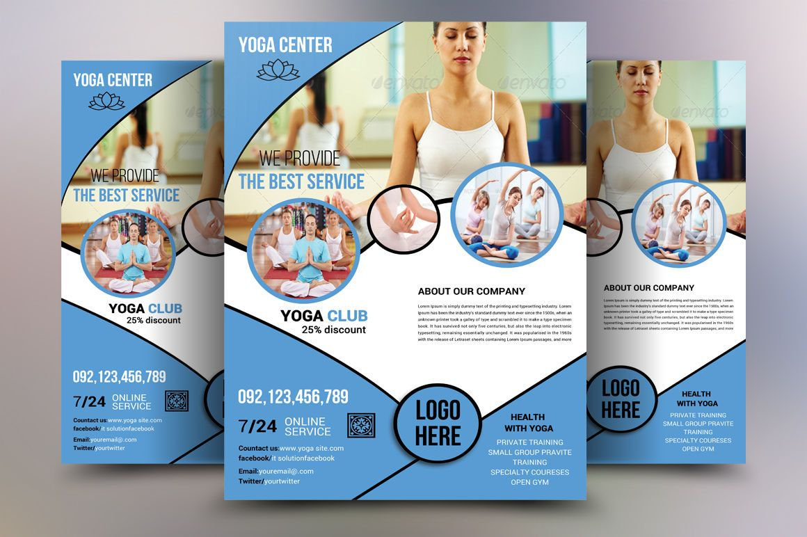 Yoga Flyer Template M1 By Ayme Designs