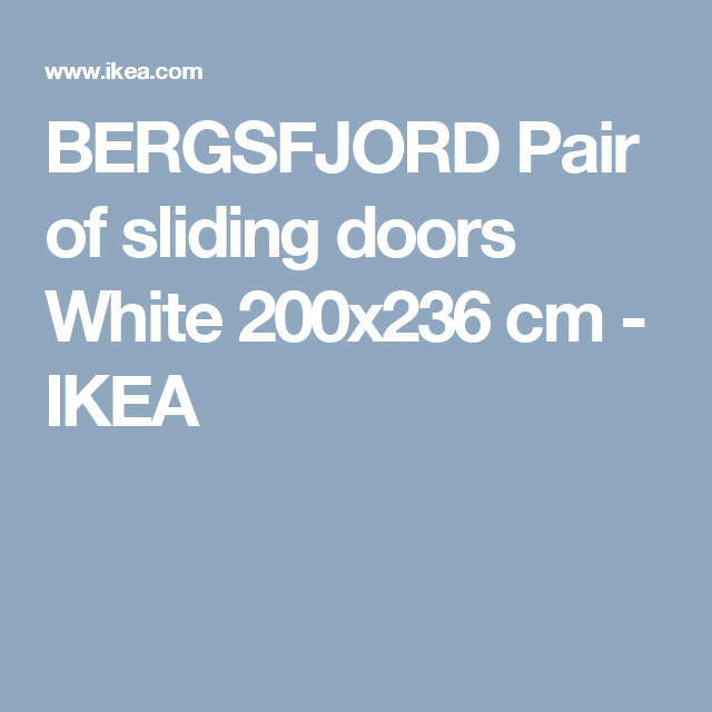 BERGSFJORD Pair of sliding doors White 200x236 cm - IKEA