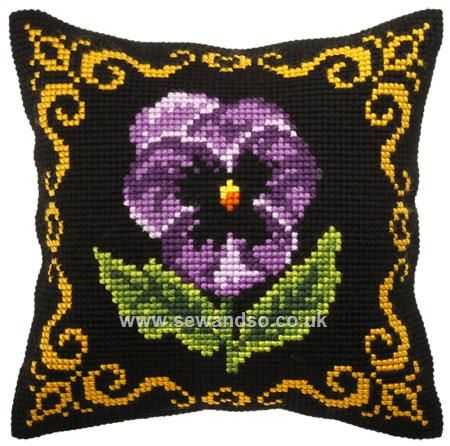 Pansy Cushion Front
