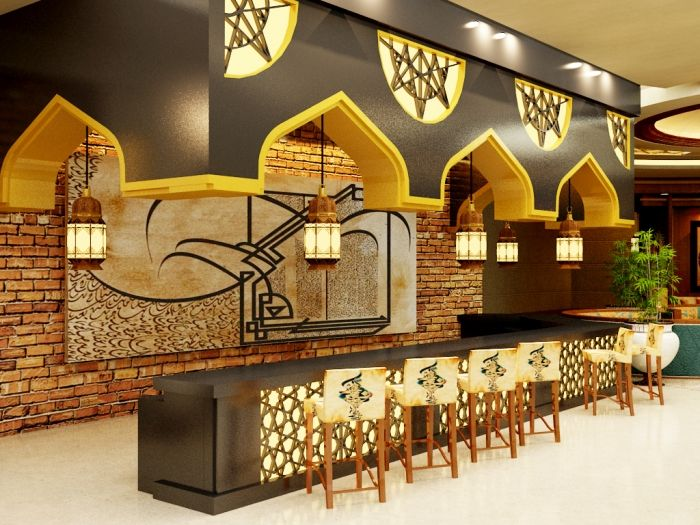 Salma taleb modern islamic restaurant for Islamic interior design ideas