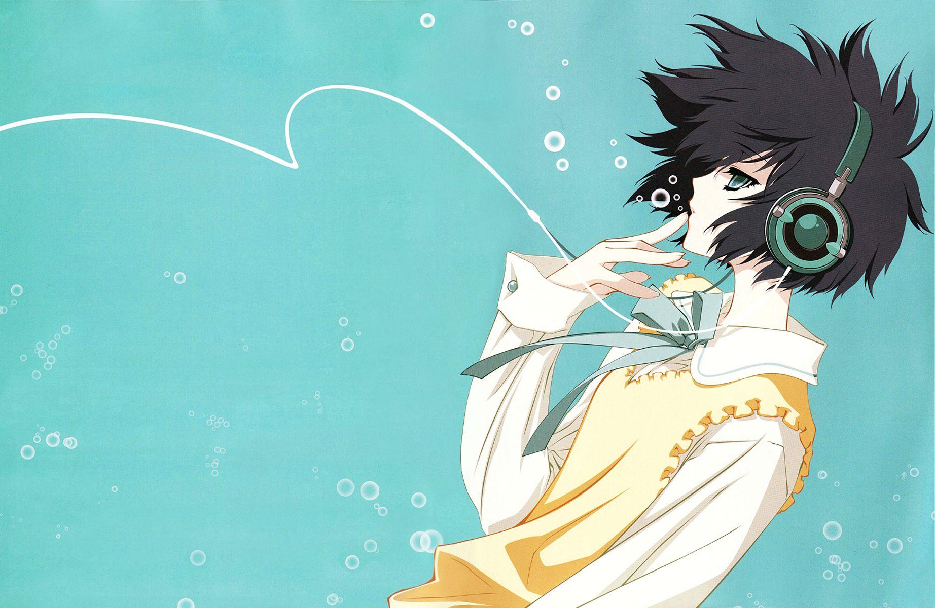Carnelian headphones girl anime ParaSol / 1844x1200