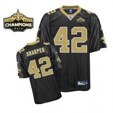 Saints  42 Darren Sharper Black Super Bowl XLIV 44 Champions Stitched NFL  Jersey f9f69007e