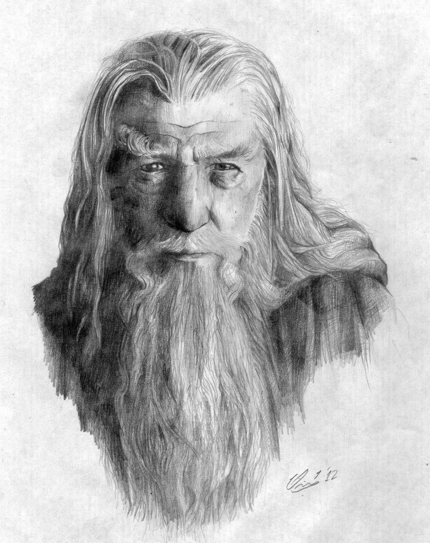 retrato gandalf por juskko   Dibujando   tmp   Pinterest   Dibujos ...