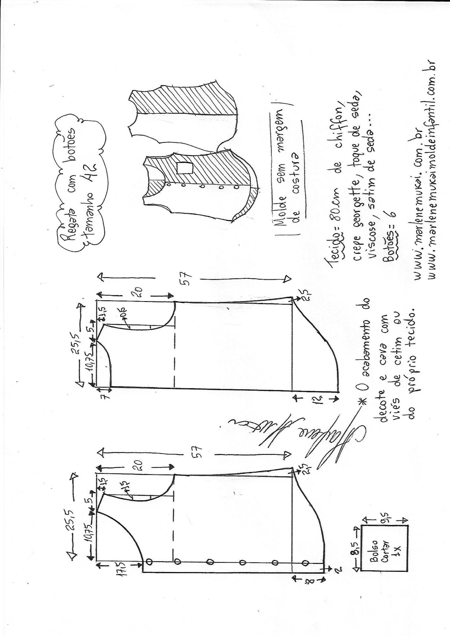 Blusa regata com botões | Blusas, Costura y Molde