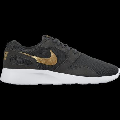 womens nike kaishi grey & gold