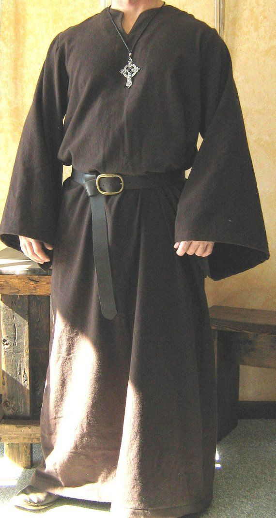 Medieval Celtic Viking Monk Wizard Robe in 2019  fe5090292