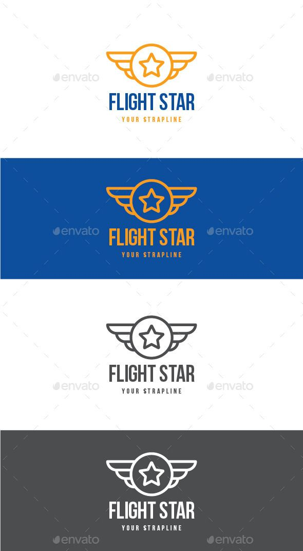 Flight Star Logo Star Logo School Academy And Logos