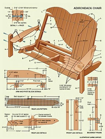 Folding Double Adirondack Chair Plans | DIY | Pinterest
