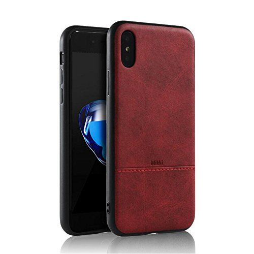 sports shoes 41cfd 949e1 Apple iPhone X Mikki PU Leather Stitching Case for iPhone 10 (2017 ...