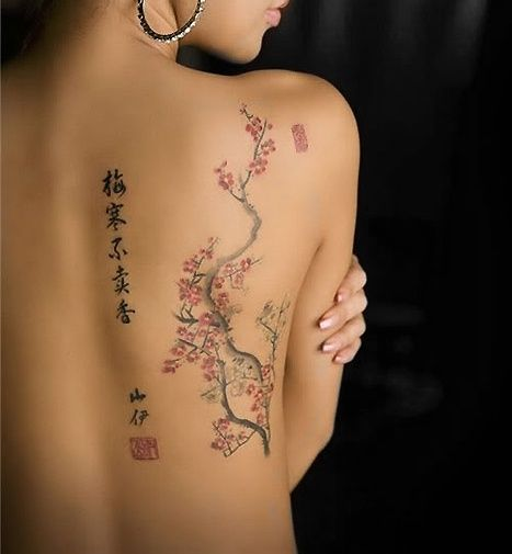 cherry blossom tattoo by steen s tattoos pinterest tattoo ideen kirschbl ten tattoo und. Black Bedroom Furniture Sets. Home Design Ideas