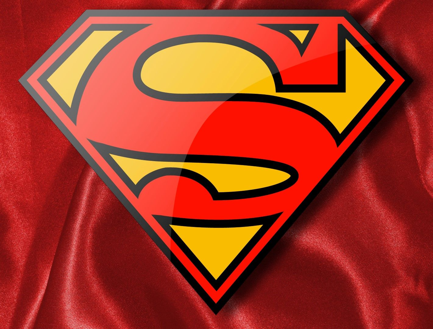 Finally Color Supermans Logo The Traditional Red And Yellow And