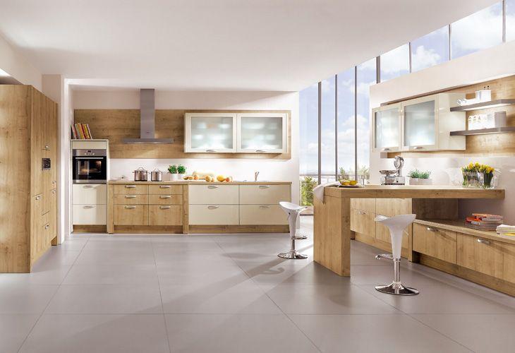 Küche in hellem Holz #Holzküche #Offeneküche www.dyk360-kuechen.de ...