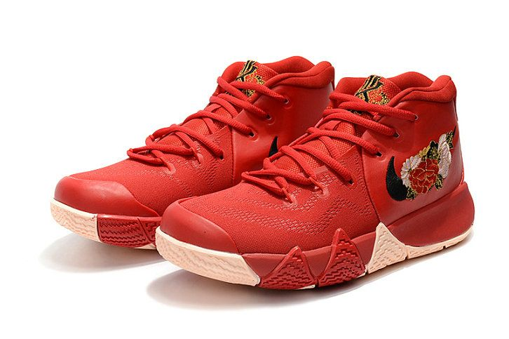 2c1f9d87316 Discount Nike Kyrie 4 CNY University Red Black-Team Red 943807-600 ...