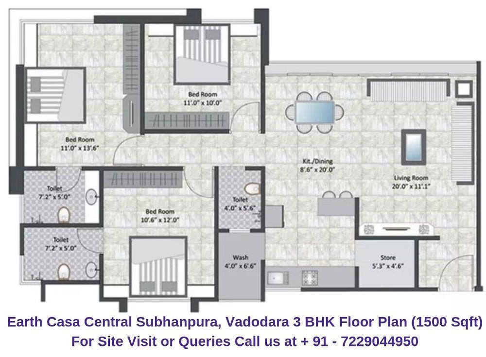 3 Bhk Floor Plan Floor Plans 2bhk House Plan Apartment Floor Plans