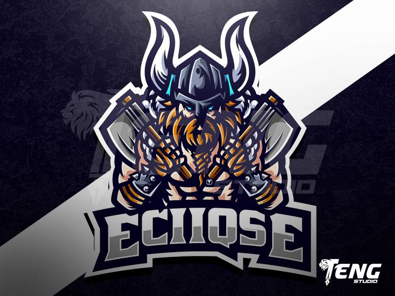 Eciiqse Viking Logo Esport Sport Character Vector Viking Logo Vikings Mascot