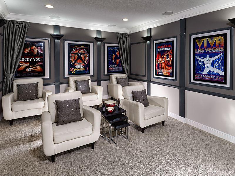 garage theater ideas - Meritage Homes Media Love Decor Ideas
