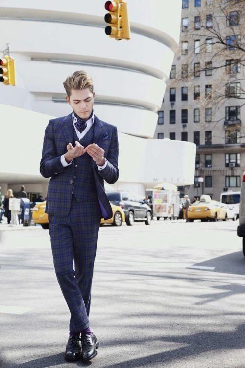 Tartan suit