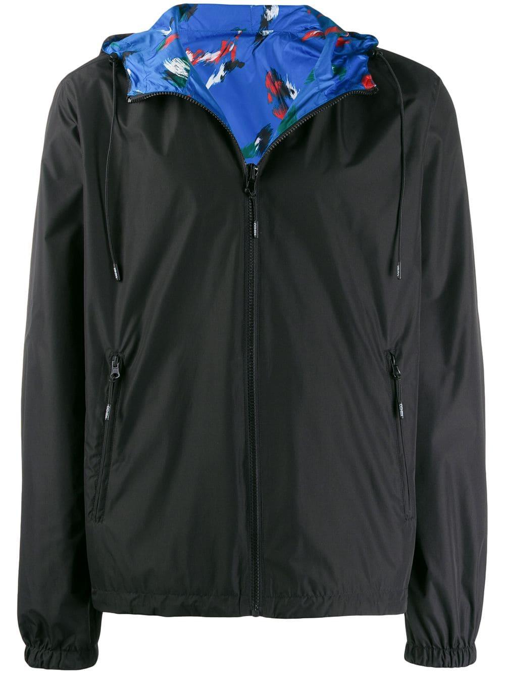 755be7ec Kenzo reversible logo windbreaker jacket - Black in 2019 | Products ...