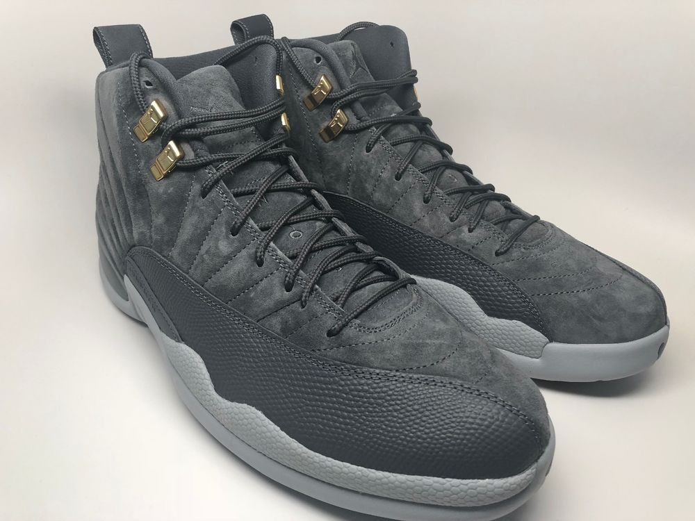 Air Jordan 12 Retro Dark Grey Suede Basketball Shoes 130690-005 Mens size  12.5  Nike  BasketballShoes fb8f816ba