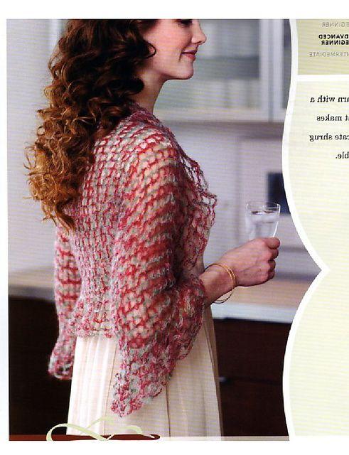 Ravelry: Ruffled Shrug pattern by Mary Jane Hall | Crochet | Pinterest