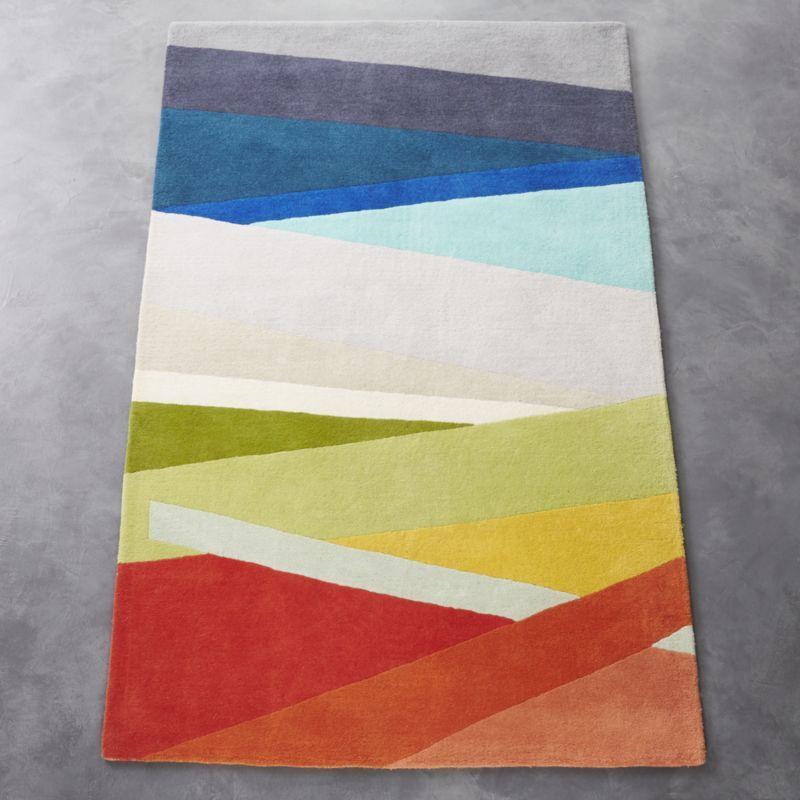 Banded Multicolor Stripe Rug