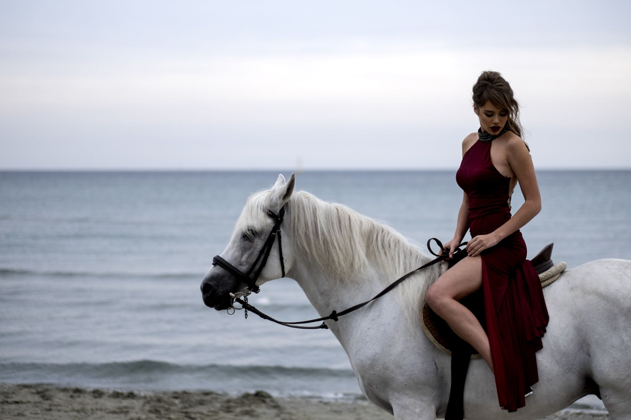 Red Woman By Rizacan Kumas On 500px Horses Horse Photos Horse Riding