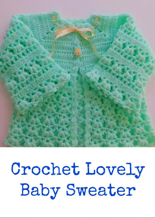 crochet lovely baby sweater | Chaquetas bebé. | Pinterest | Stricken ...