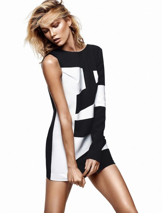 Senyahearts karlie kloss by alique for glamour france june 2015 black and white fashion