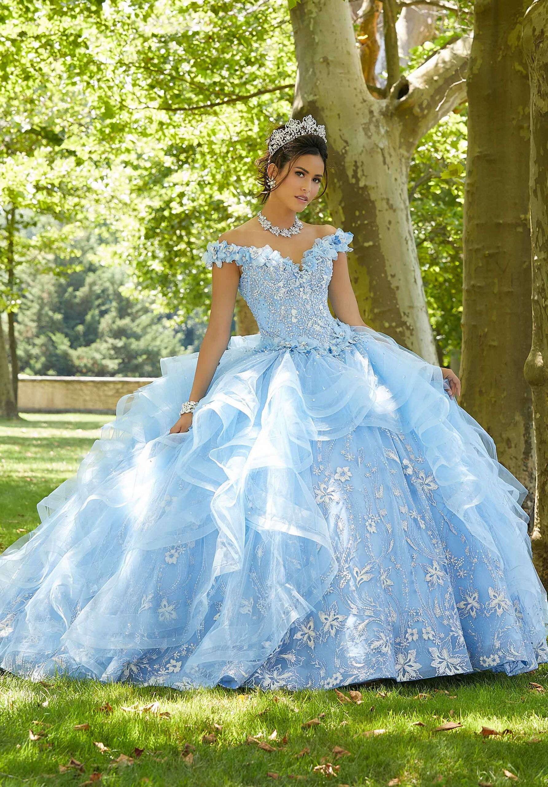 Ruffled Quinceanera Dress By Mori Lee Vizcaya 89303 In 2021 Quinceanera Dresses Pretty Quinceanera Dresses Light Blue Quinceanera Dresses [ 2560 x 1785 Pixel ]