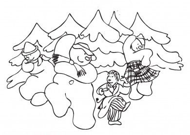 Coloring Sheets For The Snowman By Raymond Briggs