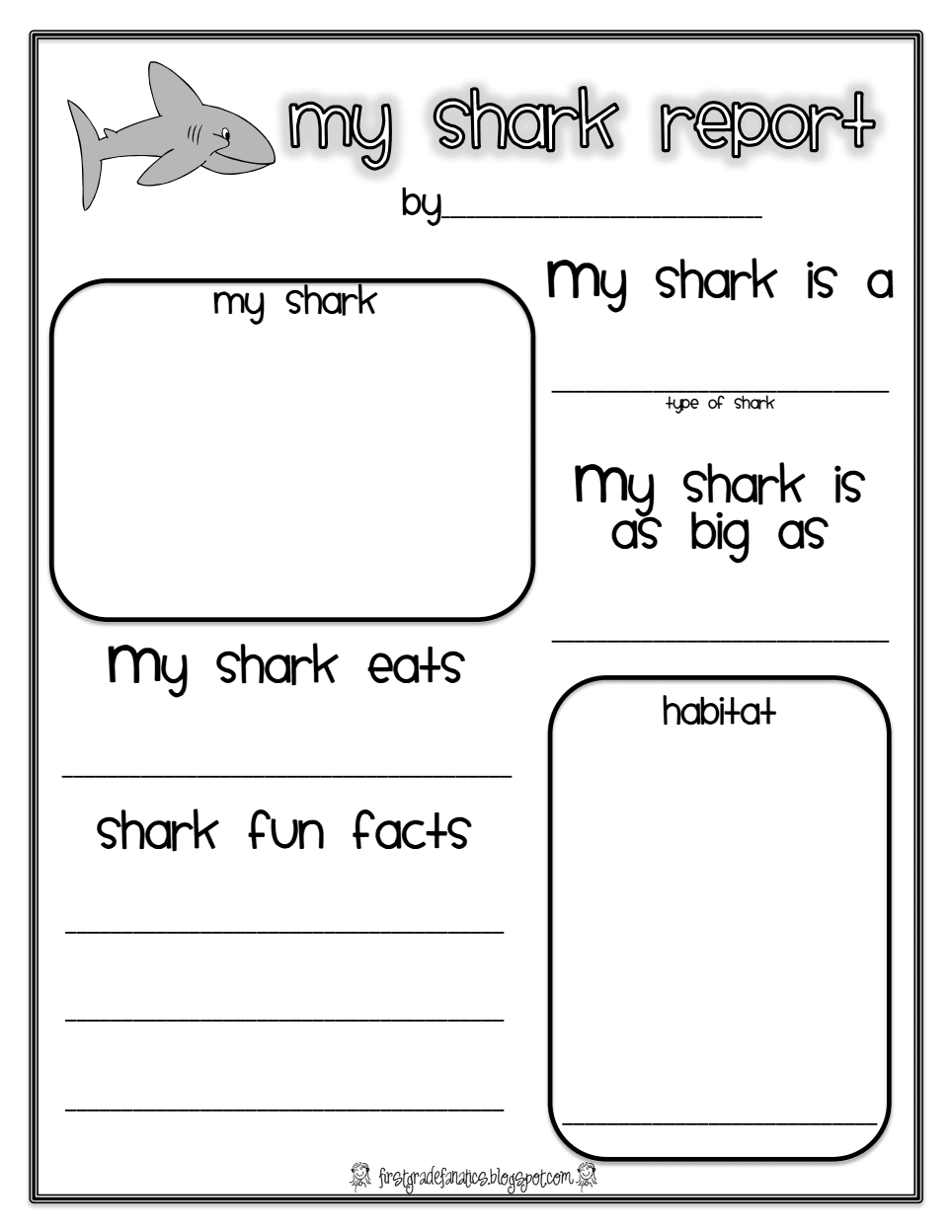 worksheet Ocean Worksheets Kindergarten shark report pdf worksheet pinterest ocean unit speech homeschool