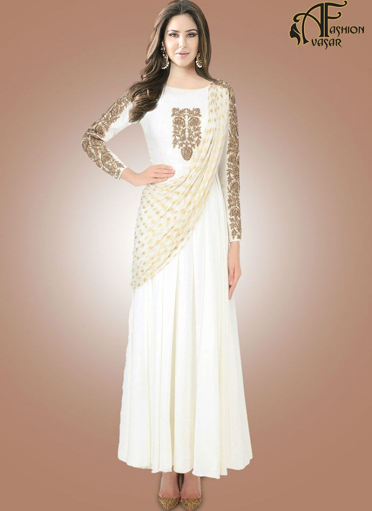White Gown Online Shopping | avasarfashion.com | Pinterest | Gowns ...