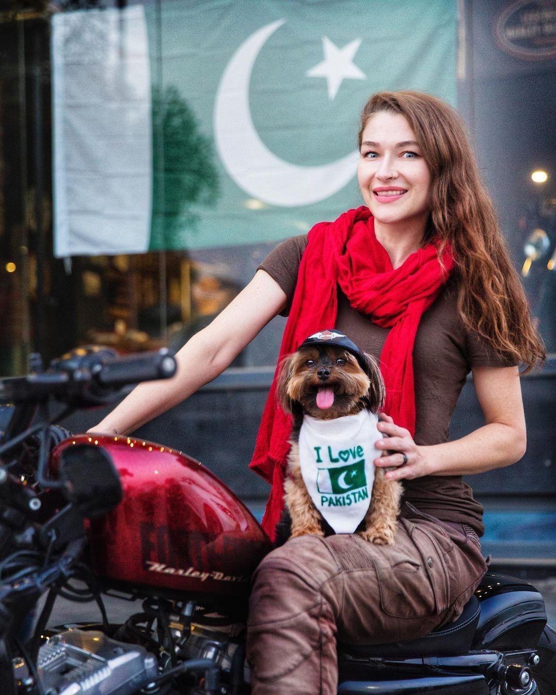 Rosie Gabrielle in Pakistan