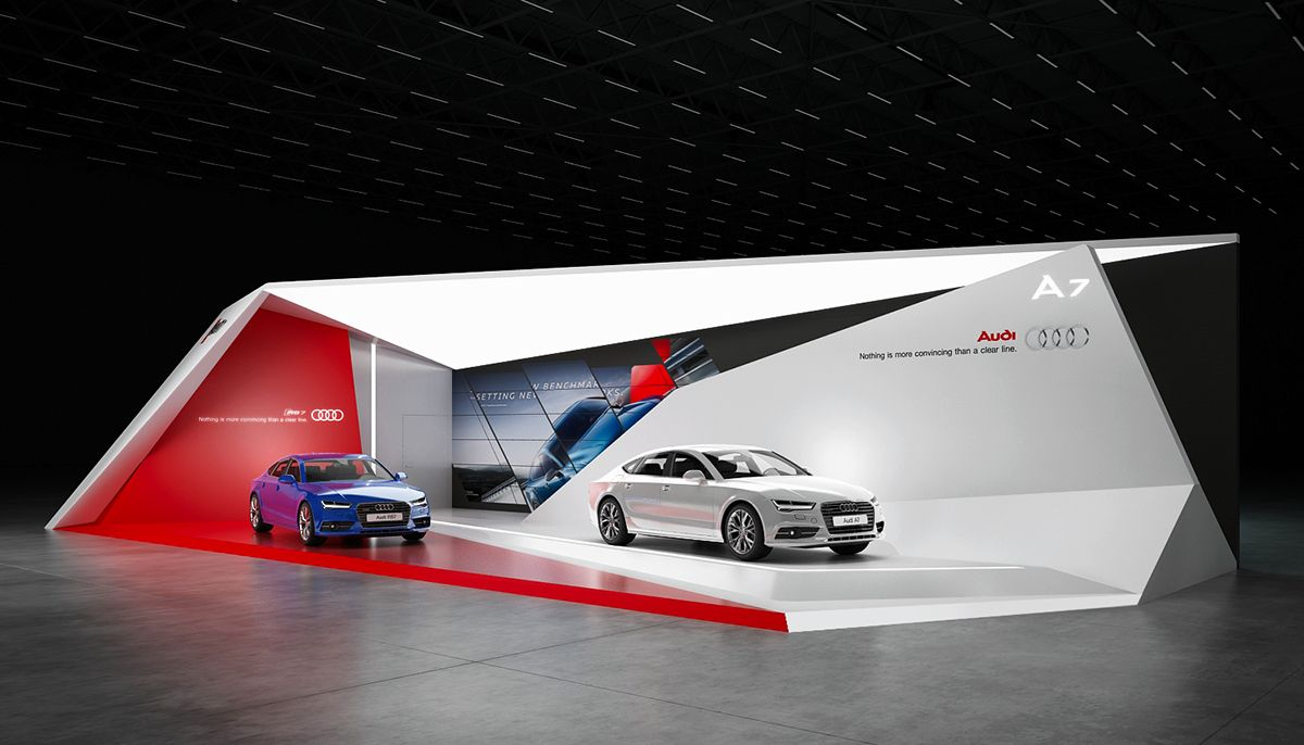Gm Exhibition Stand Design : Audi exhibition stand on behance … pinteres…